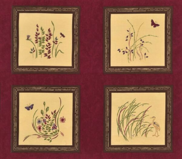 Enchanted Pond Fabric Panel Moda Fabric Blocks Holly Taylor Quilt Squares