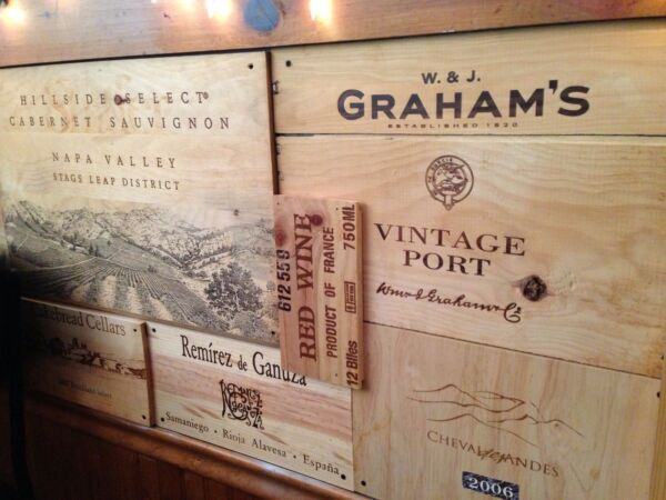 52 BRANDED WOOD WINE PANELS. Assorted CRATE  BOX Wood Different Sizes Great Lot