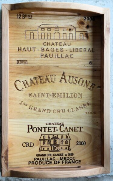 35 BRANDED WOOD WINE PANELS. Assorted CRATE  BOX Wood Different Sizes Great Lot