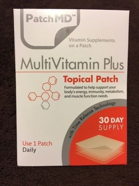 PatchMD MultiVitamin Plus  * 30 Day Supply * ****** FREE SHIPPING ******