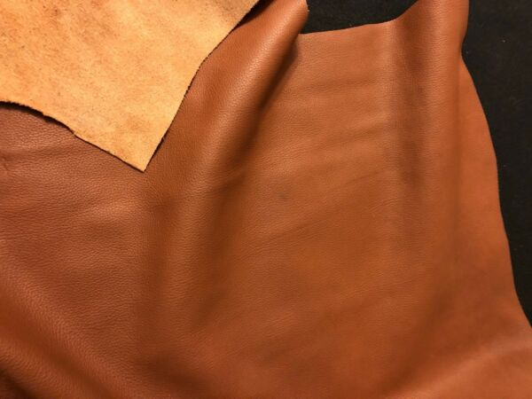 Brown BY THE PIECE Top Grain Cowhide Leather Craft Panel 2  3 oz $2.99