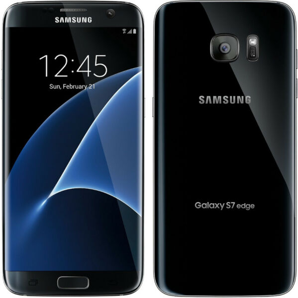 New Overstock Samsung Galaxy S7 edge SM-G935V 32GB  Black Onyx Verizon Phone
