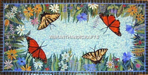 Marble Attractive Dining Center Table Top Butterfly Fine Inlay Mosaic Arts H3821
