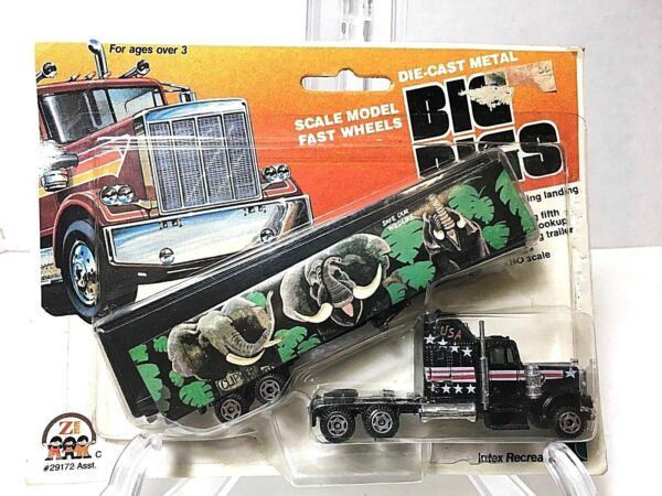 1981 Zee Toys #x27;Die Cast Big Rigs#x27; Tractor amp; Trailer HO Scale