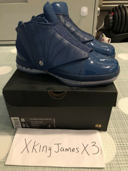 Air Jordan 16 Trophy Room Exclusive Release size 8 DEADSTOCK NBA Supreme CDG