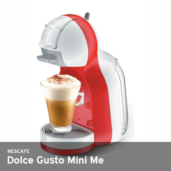 Nescafe Dolce Gusto Mini Me Auto-Off 220V 0.8 Liter 15Bar 2.5Kg Free UPS  Red