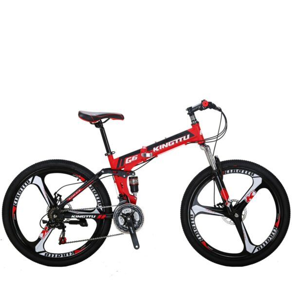 G6 Folding Bike Mountain Bike 26quot; 21 Speed Full Suspension Bicycle MTB Bikes $315.00
