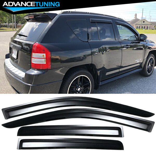 Fits 07-17 Jeep Compass Acrylic Window Visors 4Pc