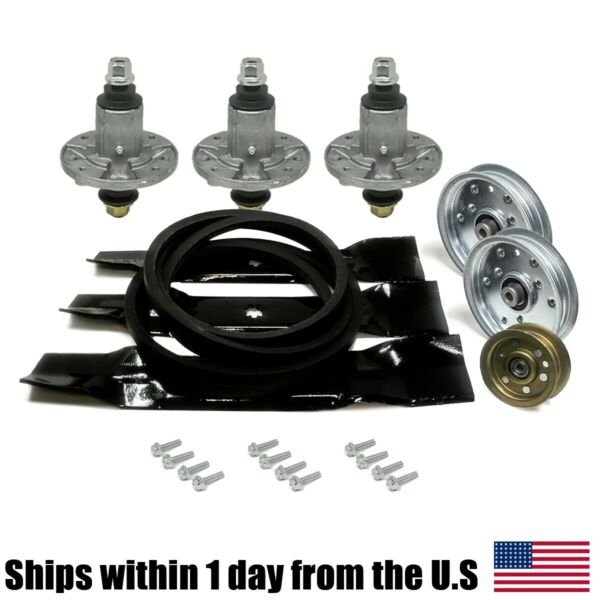 48quot; Mower Deck Rebuild Kit Fits John Deere D140 100 Series Blades Pulleys