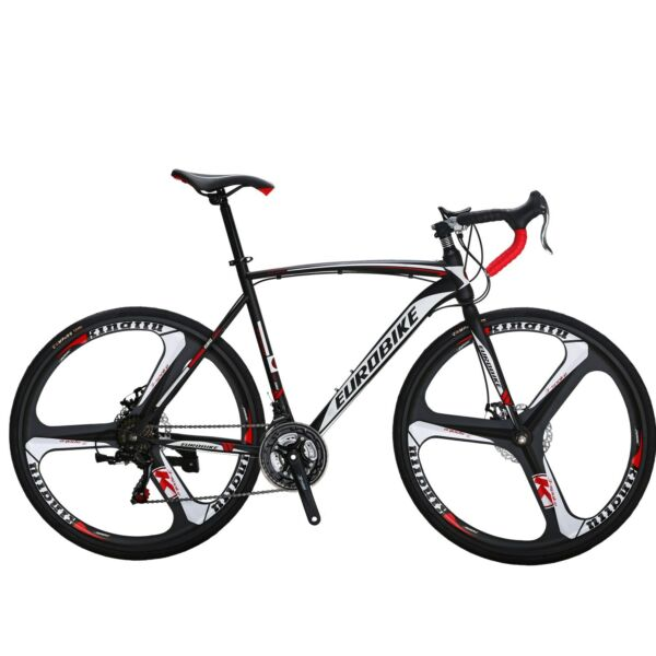 700C Road Bike 21 Speed Mens Bikes Racing Bicycle Double Disc Brakes Cycling