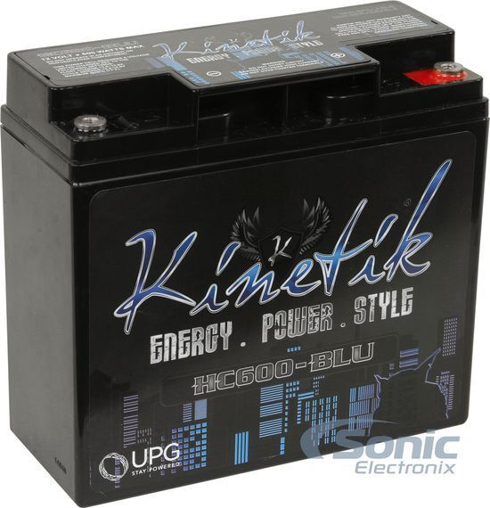 KINETIK 600 Watt 12V High Current AGM Car Audio Power Cell/Battery | HC600-BLU