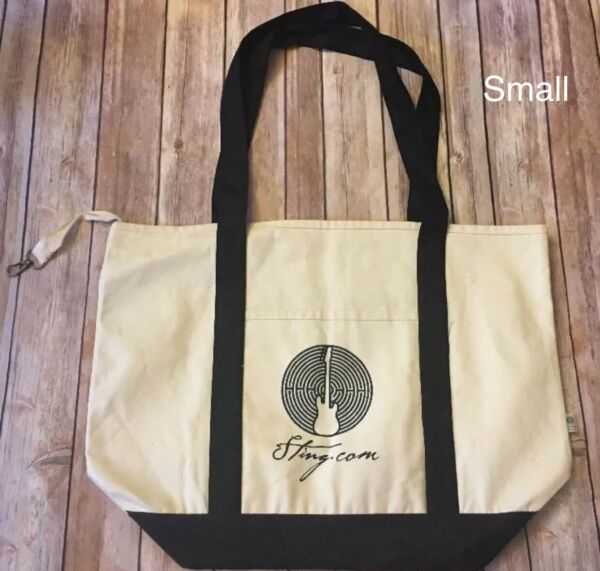 Sting Singer The Police Red Guitar Maze Canvas Tote Bag choose from 2 sizes