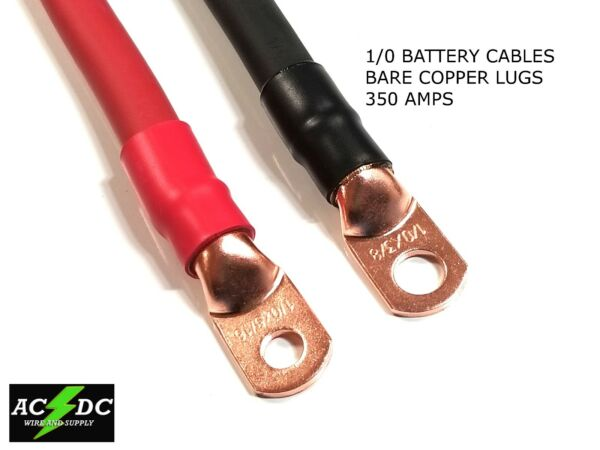 10 AWG 0 Gauge Copper Battery Cable Power Wire AutoInverterRVSolar