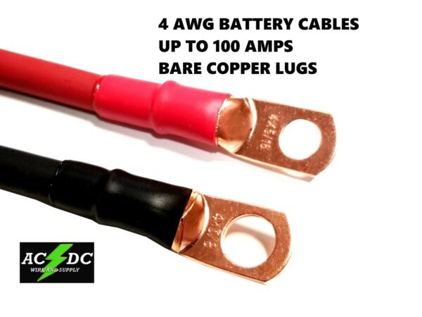 4 awg Copper Battery Cable Power Wire Car Inverter RV Solar Carts