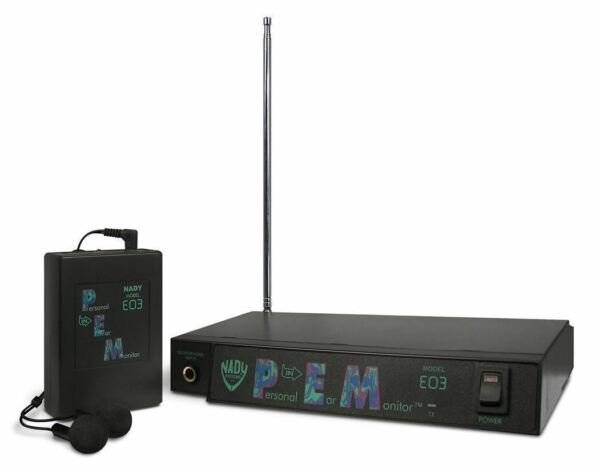 Nady EO3 DD 300 Foot Wireless In Ear Stage Monitor System With Ear Buds