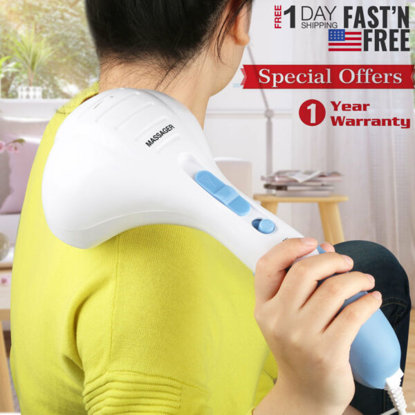 Handheld Full Body Electric Massager Deep Tissue Percussion Wand Back Neck Relax