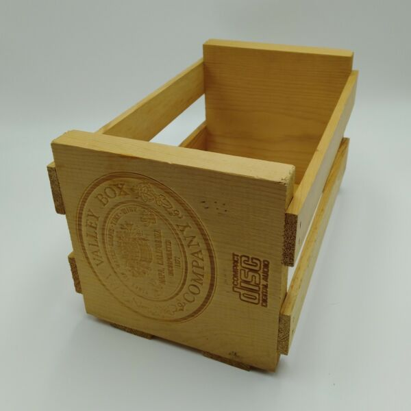 NAPA Valley Wooden Storage Crate Box for 20 CDs Compact Disc Storage