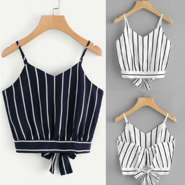 Fashion Women Casual Summer Vest Blouse Tank Crop Tops ladies Sleeveless T-Shirt