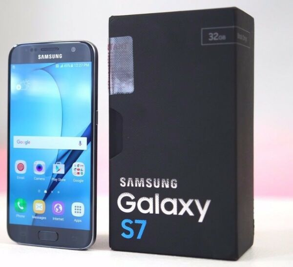 New in Box Samsung Galaxy S7 SM-G930T  32GB  Black Onyx T-Mobile Phone
