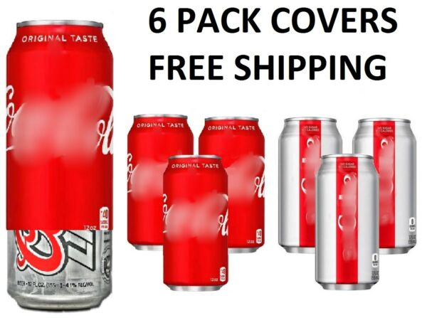 6  CAN COVERS CAMO WRAP HIDE A BEER SLEEVES DISGUISE TAILGATE  SODA COVER