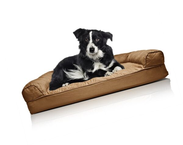 FurHaven Orthopedic Dog Couch Sofa Bed for Dogs and Cats Warm Brown Large $48.37