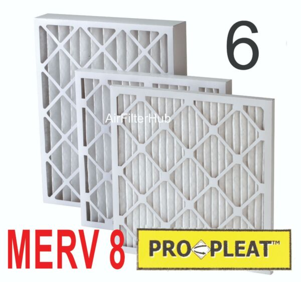 (6 PACK) PLEATED Pro-Pleat MERV 8 Furnace HVAC Filters 1