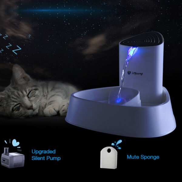 Electric Automatic Pet Dog Cat Water Fountain Drinking Bowl Auto Dish Dispenser $34.99