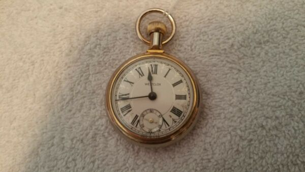 VINTAGE WESTCLOX POCKET WATCH $1 TYPE BUT DIDN#x27;T COST $1 RUNNING KEEPS TIME $70.00
