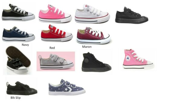 Original INFANT BABY TODDLER Converse Chuck Taylor All Star Low Top Canvas Shoes