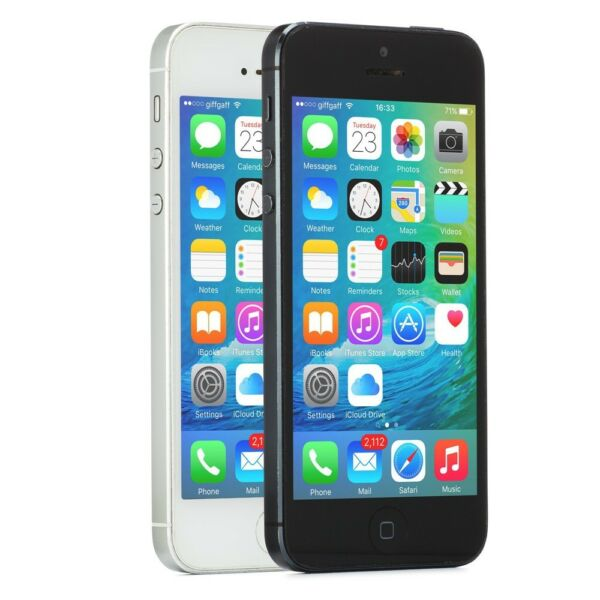 Apple iPhone 5 Smartphone GSM Unlocked 16GB 32GB 64GB Black Slate White iOS