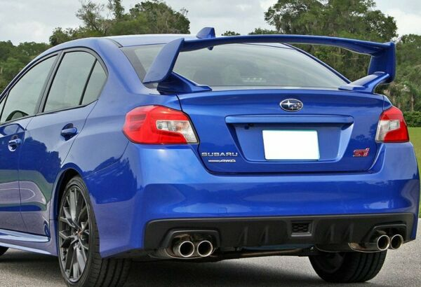 For 15-19 Subaru WRX STI Factory-Style Unpainted Black ABS Rear Trunk Spoiler
