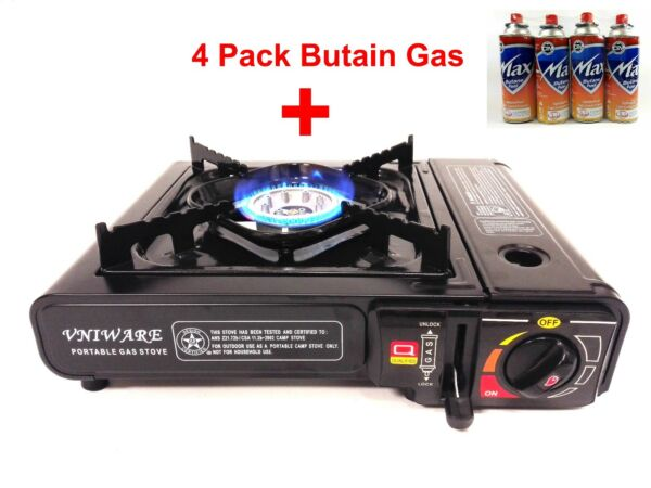 Portable Outdoor Gas Burner For Camping With Butane Canister