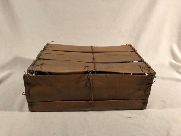 Produce Crate Shaved Wood Bale Wire Bushel Shipping Box Fruit Vegetable Georgia