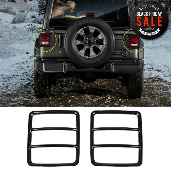 2pcs Black Rear Tail light Lamp Cover Protector  For Jeep Wrangler JL 2018 part