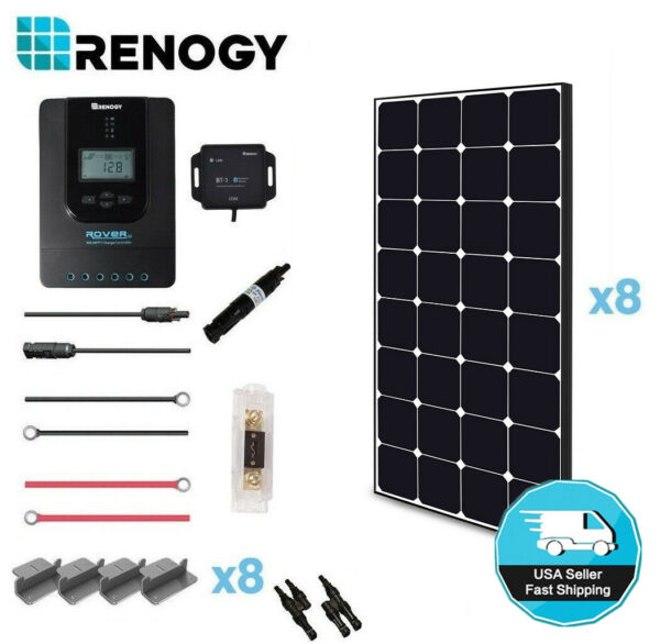Renogy 800W 24V Eclipse Solar Panel Premium Kit 40A MPPT Battery Charging System