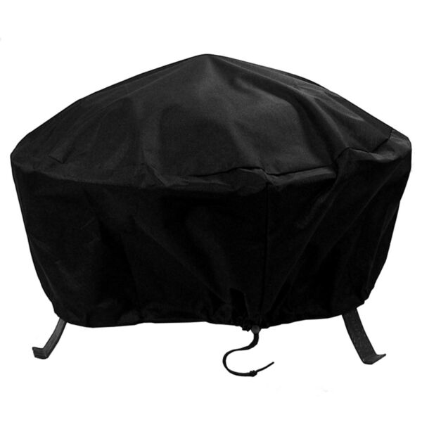 Sunnydaze Durable Weather-Resistant Round Fire Pit Cover - Black - 48-Inch