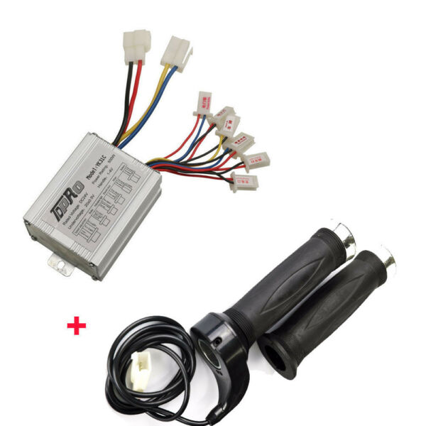 DC 24V 500W Motor Brush Speed Controller Electric Bike Throttle Twist Grips ATV