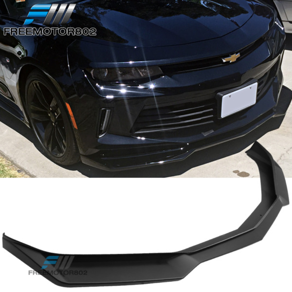 Fits 16-18 Chevy Camaro V6 Coupe Convertible ZL1 Style Front Bumper Lip - PP