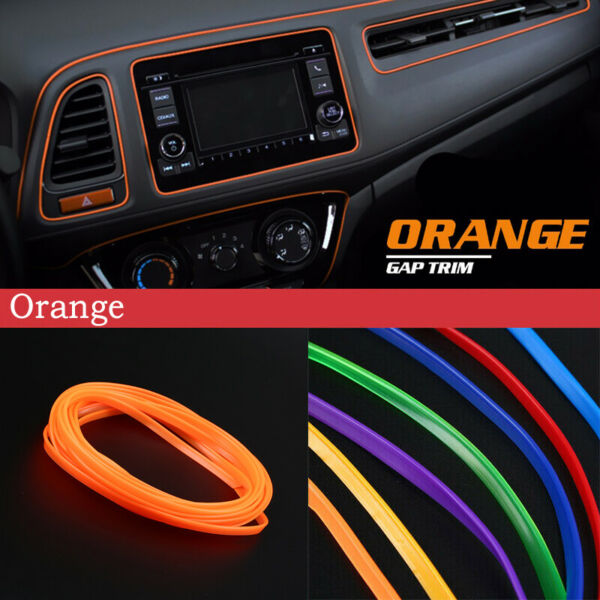 Bright Blue DIY Car Interior Exterior Decoration Moulding Trim Strip Line