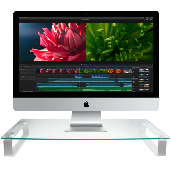 Gearmate Universal Monitor Riser Desktop Stand (Up to 44lbs, More Secure Base)
