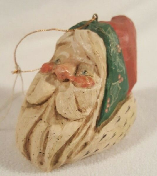 Vintage 1988 House of Hatten Ornament ~ Santa Face
