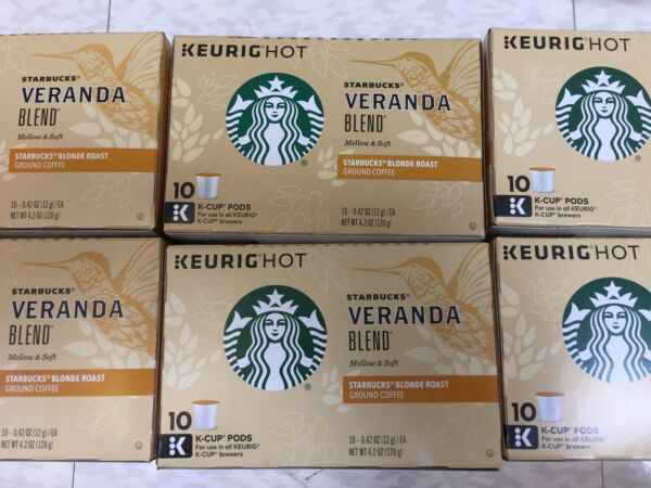 Starbucks Blonde Veranda Blend Coffee  Keurig K-Cups 60 Ct