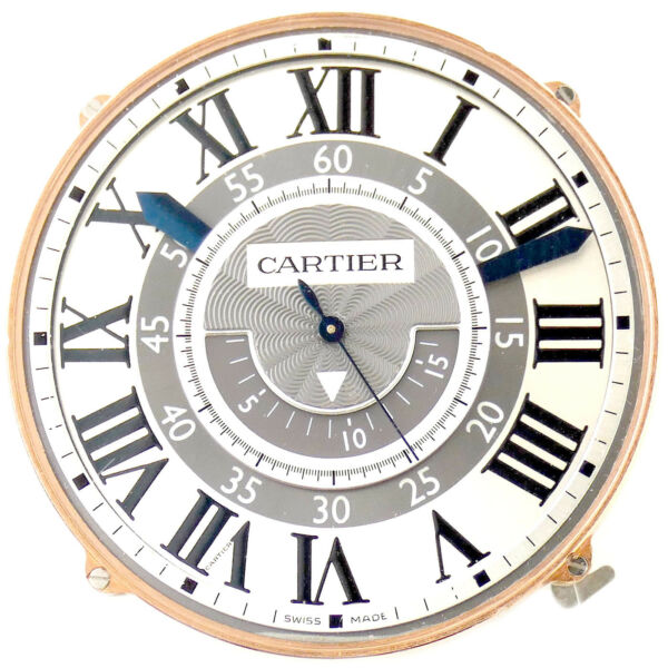 CARTIER MENS ROSE GOLD ROTONDE CENTRAL CHRONOGRAPH MOVEMENT + DIAL - BRAND NEW