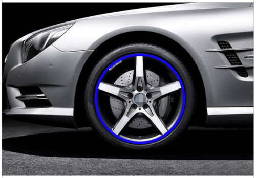 Car Accessories Car Stickers Blue Trim Strips Motorcycle Decals Tyre Decoration