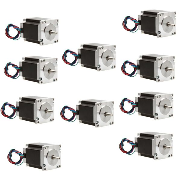 10PCS NEMA23 STEPPER MOTOR 270oz.in 3A 6 leads CNC Mill  Free ship to US CA EU