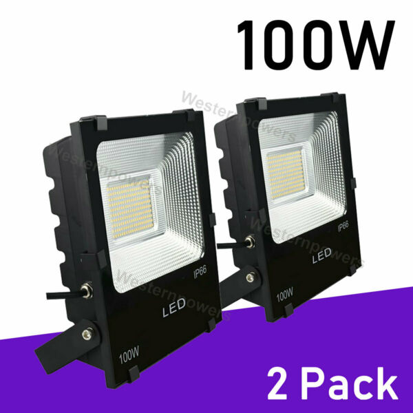 2 x 100W Led Flood Light Outdoor Spotlight Garden Yard Square 6000K Cool White $50.00