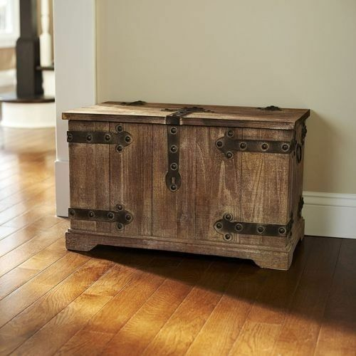 Large Decorative Storage Trunk Victorian Antique Style Wooden Chest Rustic Box
