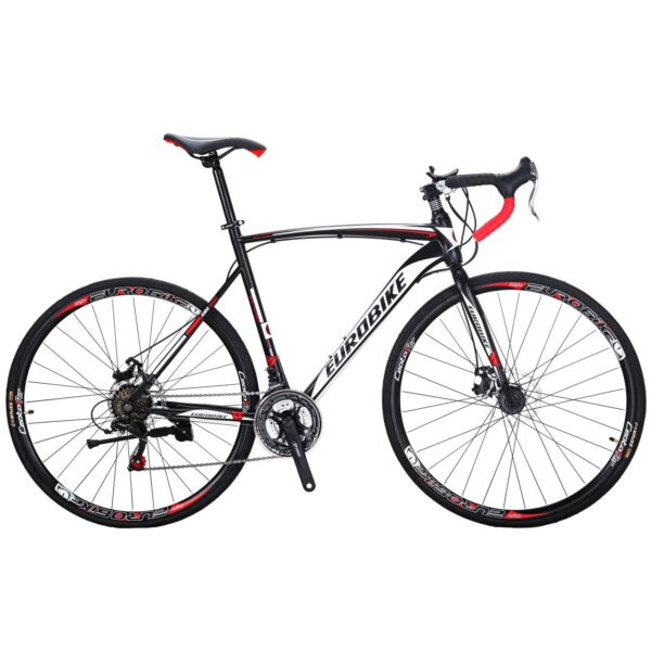 Road Bike 21 Speed Mens Bikes 700C wheels Bicycle Disc Brakes 54cm Upgraded $269.00