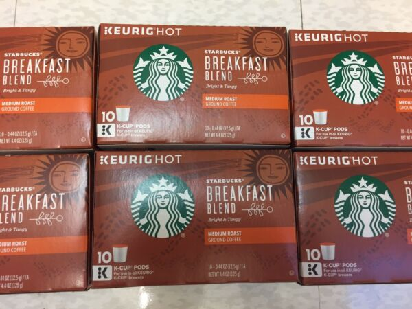 Starbucks Breakfast Blend Medium Roast Coffee Keurig 60 K-Cups