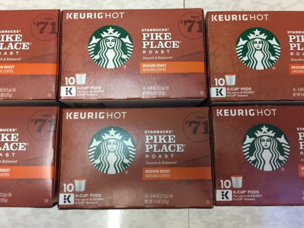 Starbucks Pike Place Roast Medium Coffee Keurig K Cups 60 Ct